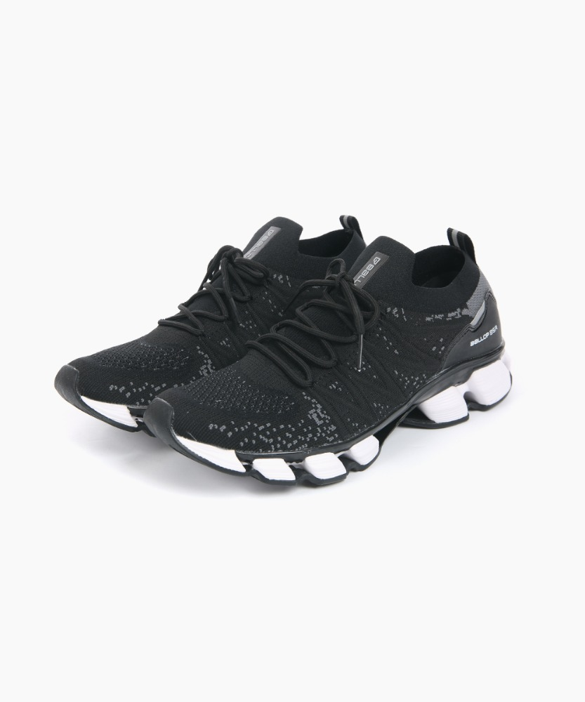 Ballop Tivat Run Knit Running Sneakers [Black]