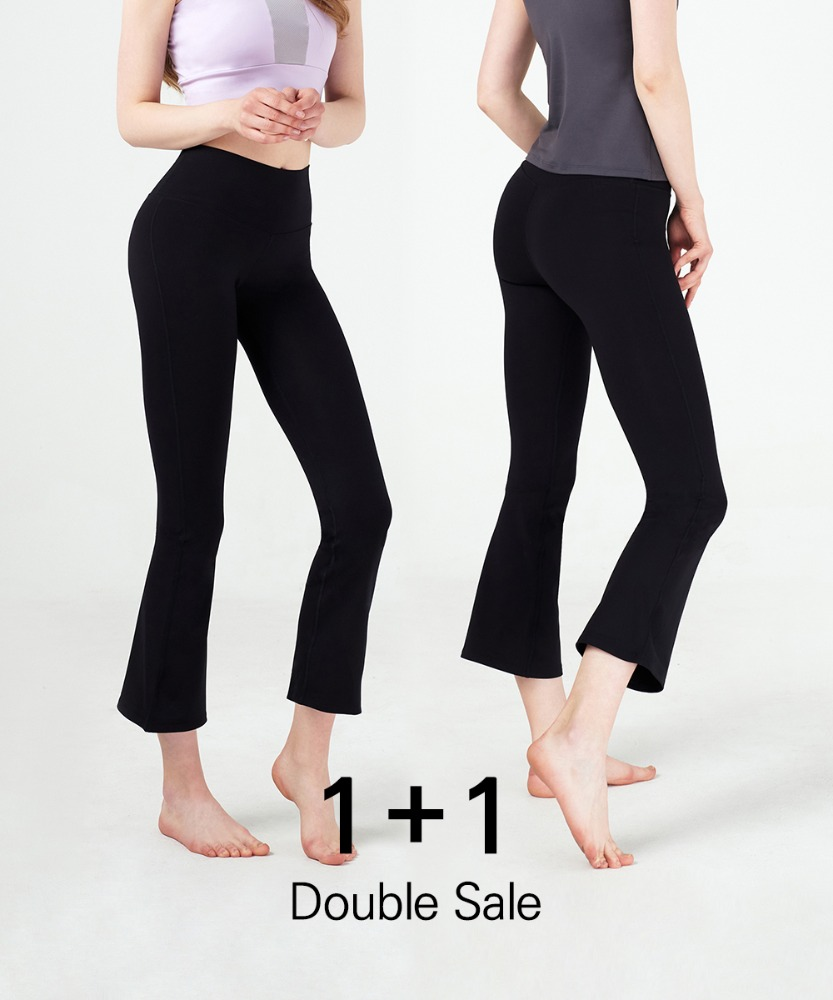 Basic Bootcut Leggings 1+1 Set