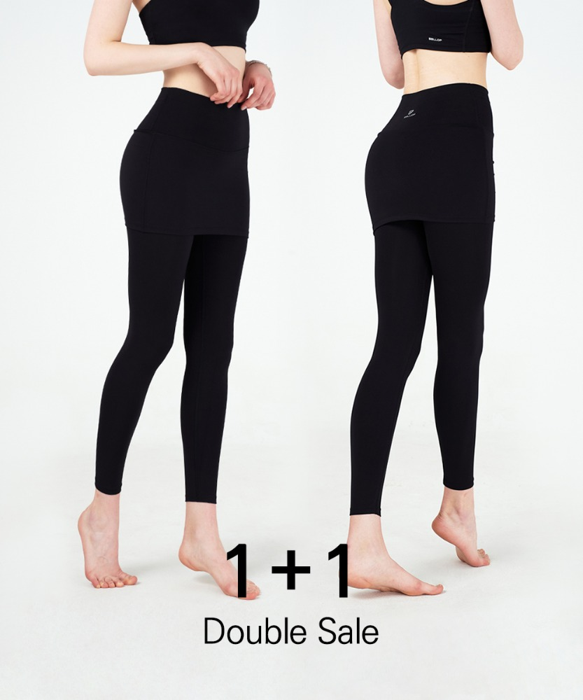 Basic Skirted Leggings 1+1 Set
