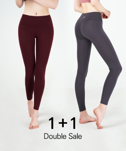 Basic 9-Part Ankle-Length Leggings 1+1 Set